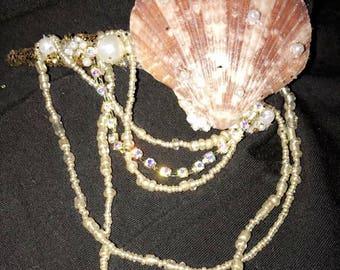Mermaid seashell clip