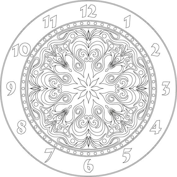 Clock face vector file eps for v bit cnc carving