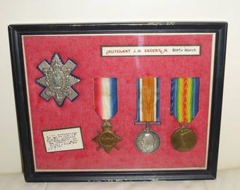 First World War (1914-1918) British Medals BLACK WATCH or HIGHLANDERS Regiment