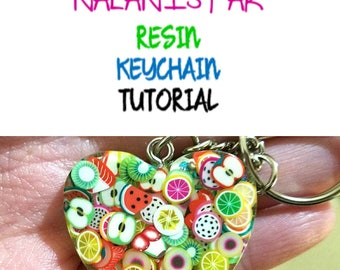 DIY Tutorial, Resin Tutorial, Resin PDF Tutorial, Fruit Keychain Tutorial, Best Selling Items, Valentine's Gift, Gifts for Women