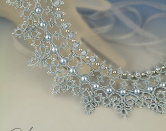 Cinderella , needle tatting necklace pattern