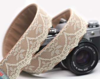 Lace Camera Strap - Retro, Hipster Strap - Oats and Honey Lace Strap