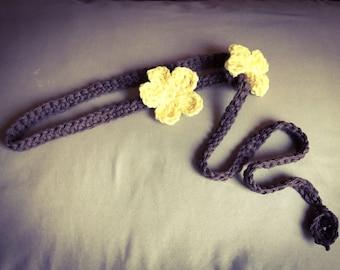 Adjustable flower headband