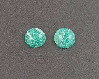 12mm Russian Amazonite Cabochon, calibrated, amazonite, amazonite cab, amazonite cabochon, green stone, small cabochon, green amazonite