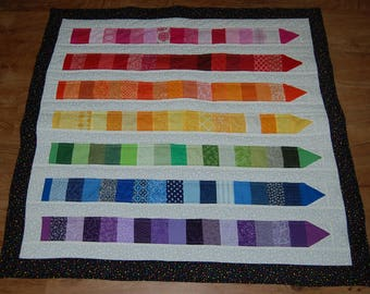 Rainbow Crayon Baby Quilt