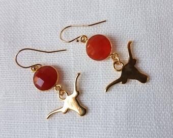 Longhorn Dangle Earrings
