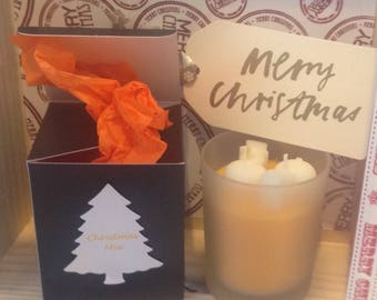 Christmas candles with lovely fragrances....and gift boxes..