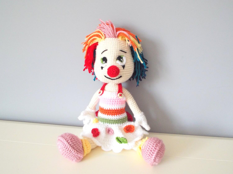Häkeln Sie Clown Puppe Amigurumi Kinder Spielzeug Geschenk
