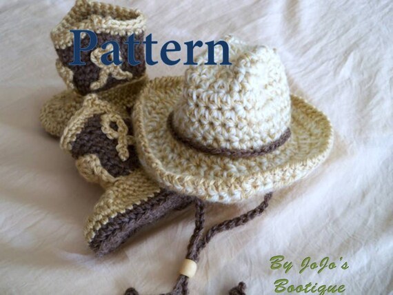 Crochet Baby Cowboy Hat And Boots Patterns Baby Cowboy Hat And
