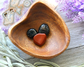 ONE Base Chakra Crystal Set Reiki Healing Gemstones Tumbled Red Jasper Black Obsidian Black Tourmaline Stones Meditation Gift Holistic