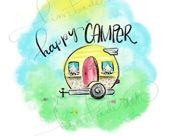Happy Camper - 8.5 x 11 print