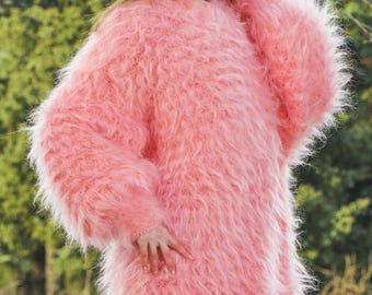 Pink slouchy mohair dress by SuperTanya