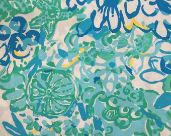 "in a pinch poplin cotton fabric square 18""x18"" ~ lilly pulitzer"