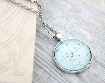 Orion Star Constellation Pendant Necklace Heavens Map Statement Jewelry Zodiac Sign Necklace Astrology Night Sky Astronomy Necklace