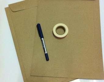 LARGE Kraft Envelopes - C4 Kraft Envelopes/Brown Bags/Kraft Bags - Set of 10 - Open End - Good for A4