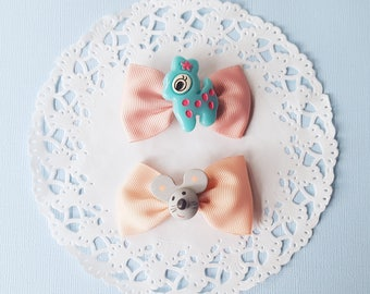 Pastel Goth Mouse and Deer Hair Bows