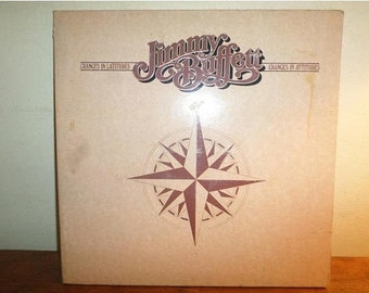Vintage Vinyl LP Record 1977 Jimmy Buffett Changes in Latitudes Changes In Attitudes Excellent Condition 12249