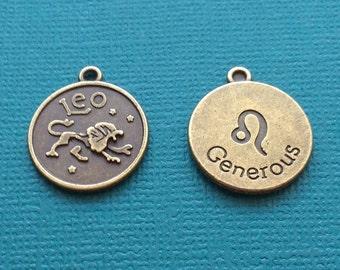 1 Leo Zodiac Charm Bronze - CB2604