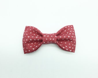 Punch Red and White Hearts // Valentines Day Bow // Kids Bowtie // Girls Hair Bow // Babys First Valentine's Day Bowtie / First Valentines