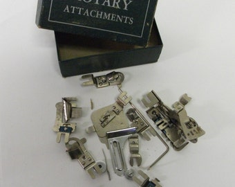 Vintage Box Full of Sewing Machine Attachments