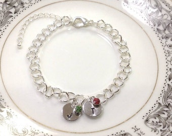Personalized Mother's Bracelet, Birthstone Jewelry, Mommy bracelet, Kid Birthday Stones, Mom Christmas Bracelet, Birthstone Bracelet,