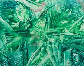 Encaustic 2, original, handmade wax painting, abstract on card