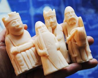 8 x Handmade lewis chess Soap – Novelty, gag soap, christmas Gift, birthday gift - set2