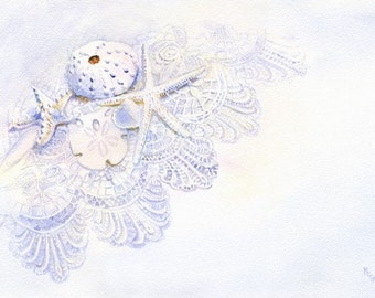 Shells on Lace giclee print