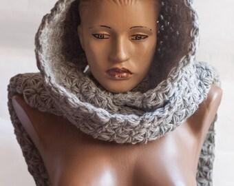 Hooded Scarf. Long Scarf. Wool Scarf. Chunky Scarf. Scoodie Scarf. LoveKnittings
