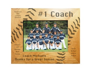 Personalized Baseball Frame - Number One Coach