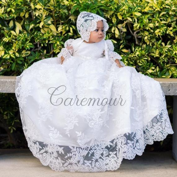Girls Baptism Gown Baptism dress Christening gown