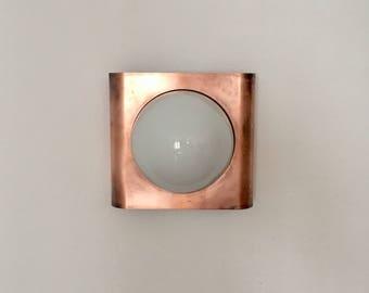 Beautiful mid-century modern copper wall lamp   1960 's ·