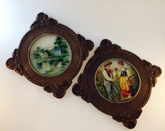 Vintage Pictures in Wooden frames