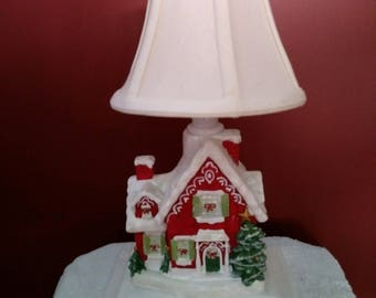 Christmas Cottage Accent Lamp