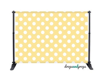 Soft Yellow Polka Dots - Photography Backdrop