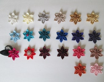 Kanzashi Flower Color Chart, Choose Your Color, Build Your Own  Wedding Garters, Bridal Accessories, Flower Hair Pieces, Headband Supply DIY