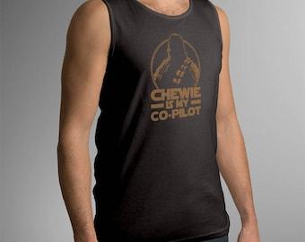 """Star Wars Inspired """"Chewie is My Co-Pilot"""" Men's Tank Top"""