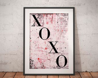 Printables, XOXO Art Print, Wall Decor, Digital Print, Wall Art