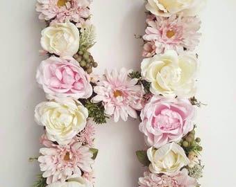 Floral Letter/Wedding Floral Letter/Nursery Decor/Baby Shower Decor