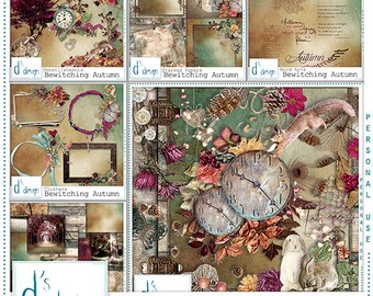 Bewitching Autumn - Digital Scrapbooking Collection - Automne - Scrapbook - Imprimable