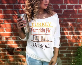 Turkey Pumpkin Pie Football Oh My!