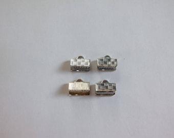 Clip 10x5mm silver lace