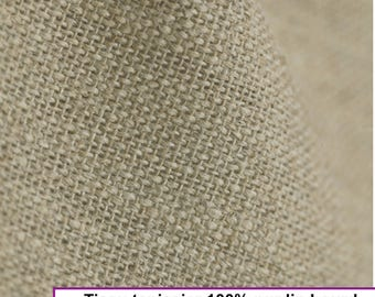 Heavy linen fabric 100% natural color, weight 350 gr m2 width 140 CM