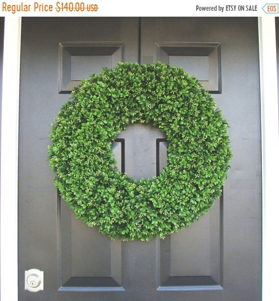 SPRING WREATH SALE Year Round Wreath, Front Door Decor, Outdoor Boxwood Wreath, Room Decor, Wall Decor, Xl 24 Inch