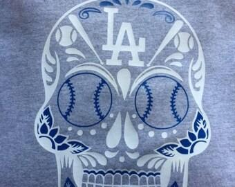 Los Angeles Dodgers Shirt - Dia de los Muertos Skull - Dodgers - Los Angeles - Dia de los Dodgers