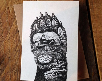 Bear Paw // Greeting Card