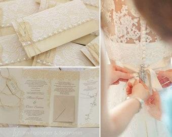 Matching the Dress  wedding invitations