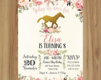 Rocking horse invite etsy pink and aqua horse birthday invitationshabby chic horse invitationrocking horse baby shower filmwisefo Gallery