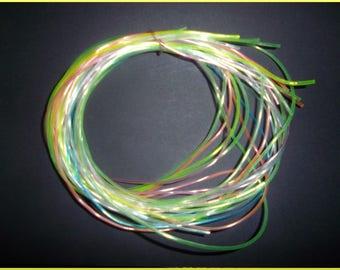 set of 18 strands of pastel scoubidous