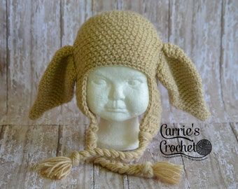 Crochet Dobby House Elf Hp Hat -- Best Seller!